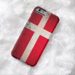 Caso del iPhone 6 de la bandera del Grunge de Funda De iPhone 6 Barely There