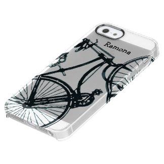 Caso del iphone 6 de la bicicleta del vintage funda clearly™ deflector para iPhone 5 de uncommon