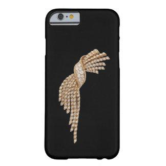 Caso del iPhone 6 de la borla del oro del diamante Funda Para iPhone 6 Barely There