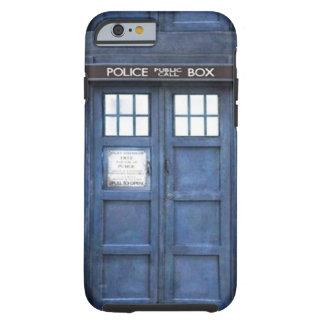 Caso del iPhone 6 de la caja de llamada de policía Funda Resistente iPhone 6