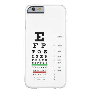 Caso del iPhone 6 de la carta de ojo de Snellen Funda De iPhone 6 Barely There