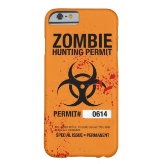 Caso del iPhone 6 de la caza del zombi Funda Para iPhone 6 Barely There