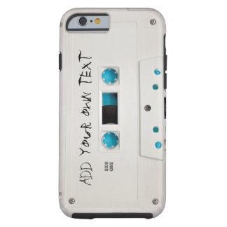 Caso del iPhone 6 de la cinta de casete del Funda De iPhone 6 Tough