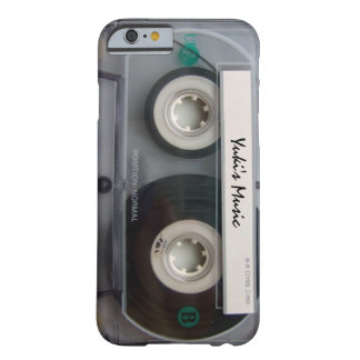 Caso del iPhone 6 de la cinta de casete Funda Para iPhone 6 Barely There