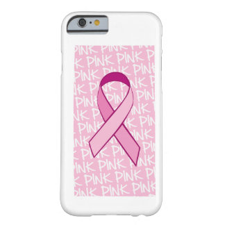 Caso del iPhone 6 de la conciencia del cáncer de Funda Para iPhone 6 Barely There