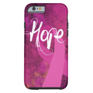 Caso del iPhone 6 de la conciencia del cáncer de Funda Resistente iPhone 6