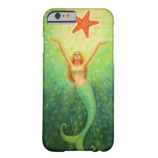 Caso del iPhone 6 de la estrella de s de la sirena Funda De iPhone 6 Barely There