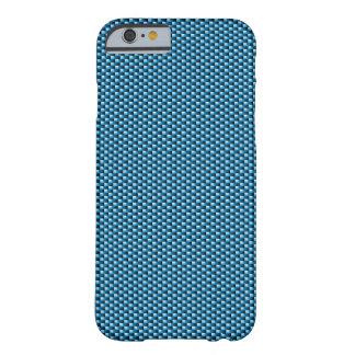Caso del iPhone 6 de la fibra de carbono azul Funda De iPhone 6 Slim