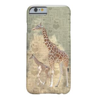 Caso del iPhone 6 de la jirafa de la mamá y de la Funda Para iPhone 6 Barely There