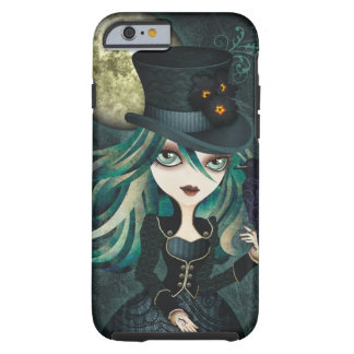 Caso del iPhone 6 de la luna del cuervo