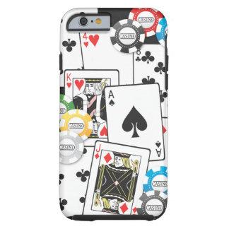 Caso del iPhone 6 de la mano de póker Funda Resistente iPhone 6