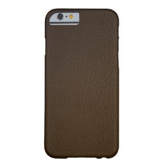 Caso del iPhone 6 de la mirada del cuero marrón Funda Para iPhone 6 Barely There