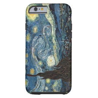 Caso del iPhone 6 de la noche estrellada de Van Funda Resistente iPhone 6