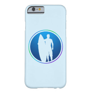 Caso del iPhone 6 de la persona que practica surf Funda De iPhone 6 Barely There