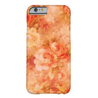 Caso del iPhone 6 de la pintura de la flor Funda Para iPhone 6 Barely There