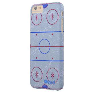 Caso del iPhone 6 de la pista de hielo del hockey Funda De iPhone 6 Plus Barely There