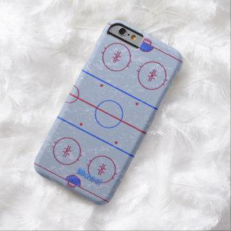 Caso del iPhone 6 de la pista de hielo del hockey Funda De iPhone 6 Barely There