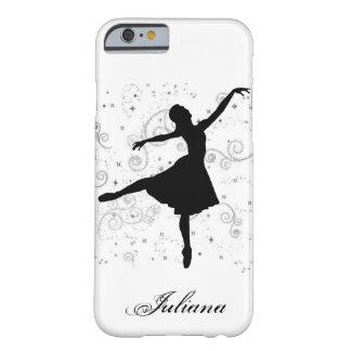 Caso del iPhone 6 de la silueta de la bailarina Funda De iPhone 6 Barely There