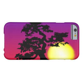 Caso del iPhone 6 de la silueta de los bonsais de Funda Barely There iPhone 6
