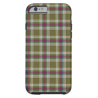 Caso del iPhone 6 de la tela escocesa del verde y