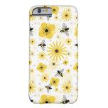 Caso del iPhone 6 de las abejas y de las flores Funda De iPhone 6 Barely There