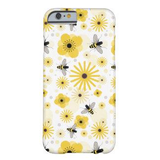 Caso del iPhone 6 de las abejas y de las flores Funda Para iPhone 6 Barely There