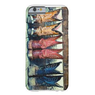 Caso del iPhone 6 de las botas de vaquero Funda Para iPhone 6 Barely There