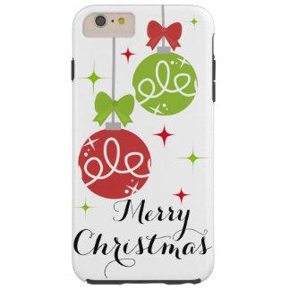 Caso del iPhone 6 de las Felices Navidad Funda Para iPhone 6 Plus Tough