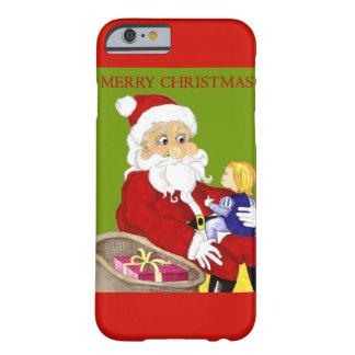 Caso del iphone 6 de las Felices Navidad Papá Noel Funda De iPhone 6 Barely There