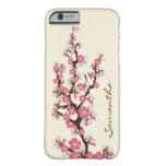 Caso del iPhone 6 de las flores de cerezo (rosa) Funda De iPhone 6 Barely There