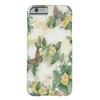 Caso del iPhone 6 de las flores y de las mariposas Funda Barely There iPhone 6