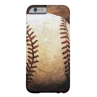 Caso del iPhone 6 de las ilustraciones del béisbol Funda Para iPhone 6 Barely There