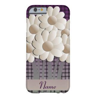 Caso del iPhone 6 de las margaritas y de la cesta Funda Barely There iPhone 6