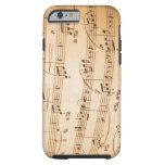 Caso del iPhone 6 de las notas musicales Funda De iPhone 6 Tough