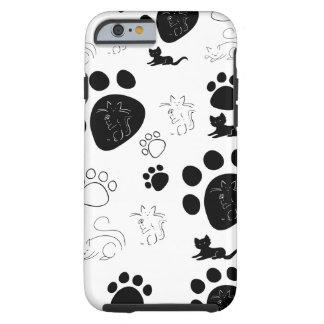 Caso del iPhone 6 de las patas de los gatitos Funda Resistente iPhone 6