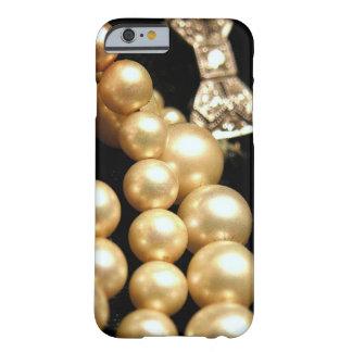 Caso del iPhone 6 de las perlas y de los diamantes Funda Para iPhone 6 Barely There