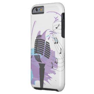 Caso del iphone 6 de los amantes de la música funda resistente iPhone 6