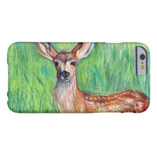 Caso del iPhone 6 de los ciervos del creyón Funda Barely There iPhone 6