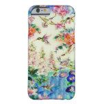 Caso del iPhone 6 de los colibríes y de las flores