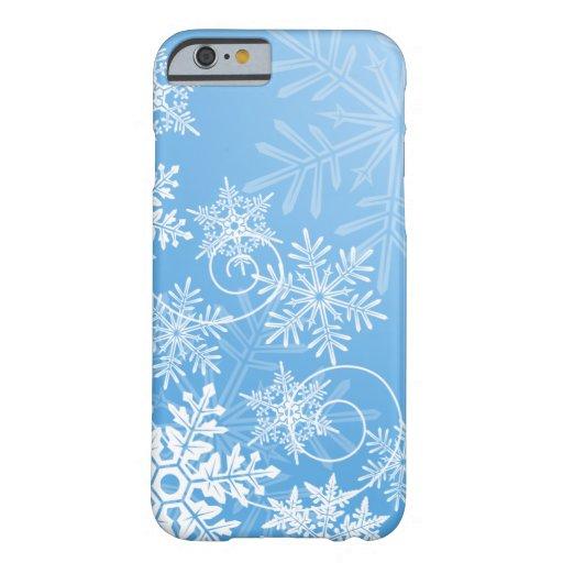 Caso del iPhone 6 de los copos de nieve Funda De iPhone 6 Barely There