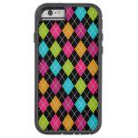 Caso del iPhone 6 de los diamantes del multicolor Funda De iPhone 6 Tough Xtreme