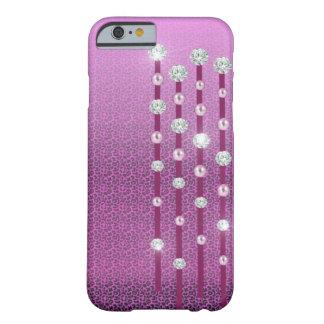 Caso del iPhone 6 de los diamantes y de las perlas Funda De iPhone 6 Barely There