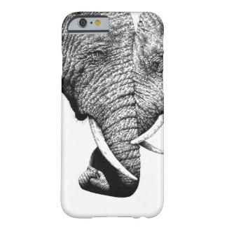 Caso del iPhone 6 de los elefantes africanos Funda Barely There iPhone 6