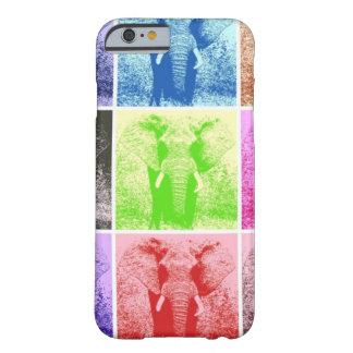 Caso del iPhone 6 de los elefantes del arte pop Funda De iPhone 6 Barely There