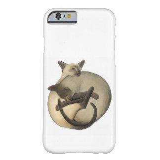 Caso del iPhone 6 de los gatos siameses de Yin Funda De iPhone 6 Barely There