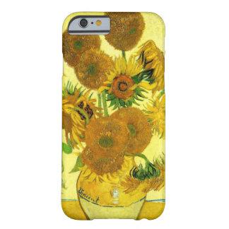 Caso del iPhone 6 de los girasoles de Van Gogh Funda Barely There iPhone 6