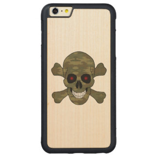 Caso del iPhone 6 de los ojos cráneo y de la Funda De Arce Bumper Carved® Para iPhone 6 Plus
