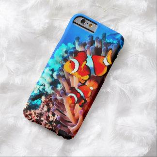 Caso del iPhone 6 de los pescados del payaso Funda Barely There iPhone 6
