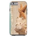 Caso del iPhone 6 de los seashells de la playa del Funda Para iPhone 6 Tough