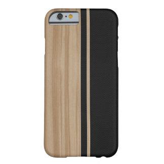 Caso del iPhone 6 de madera y de la fibra de Funda Barely There iPhone 6